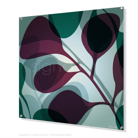 contemporary perspex art kuranda magenta square