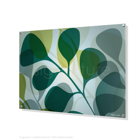 contemporary perspex art kuranda blue rectangular