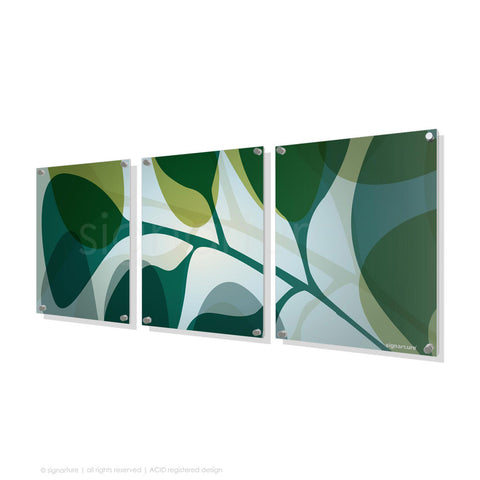 contemporary perspex art kuranda blue triptych