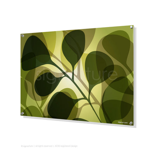 contemporary perspex art kuranda green rectangular