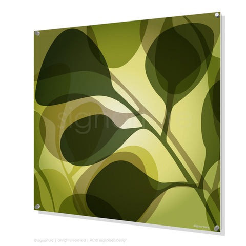 contemporary perspex art kuranda green square