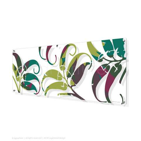 contemporary perspex art lizard island green panoramic