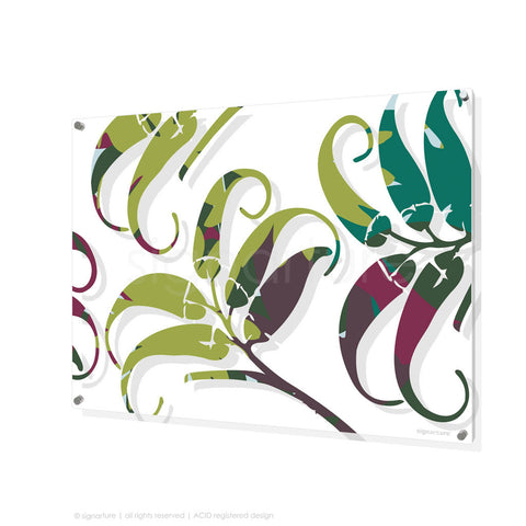 contemporary perspex art lizard island green rectangular