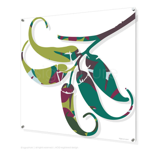 contemporary perspex art lizard island green square