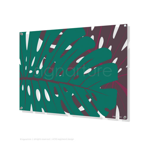 contemporary perspex art noosa blue rectangular