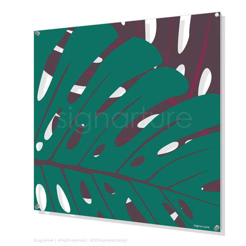 contemporary perspex art noosa blue square