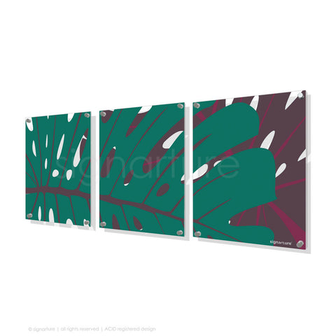 contemporary perspex art noosa blue triptych
