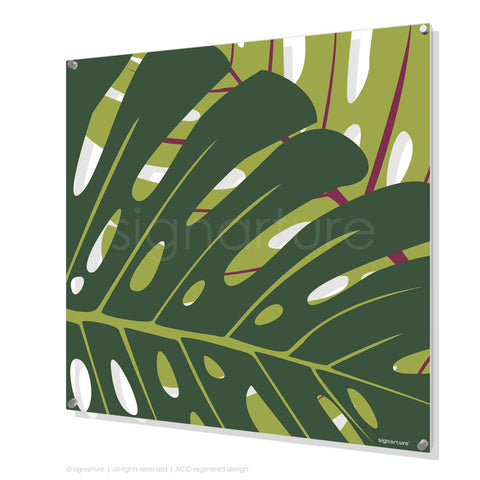 contemporary perspex art noosa yellow square