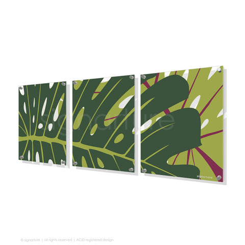 contemporary perspex art noosa yellow triptych