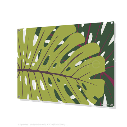 contemporary perspex art noosa green rectangular