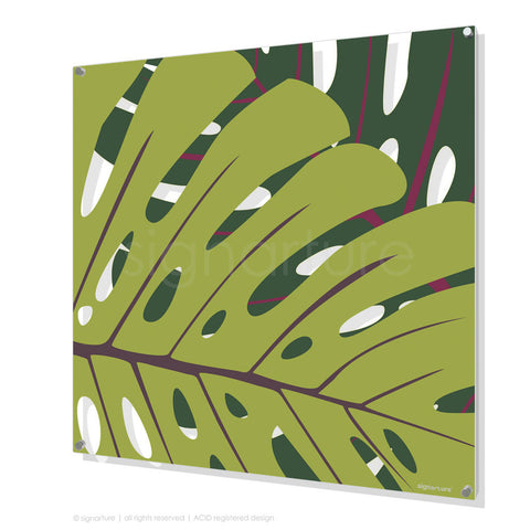 contemporary perspex art noosa green square