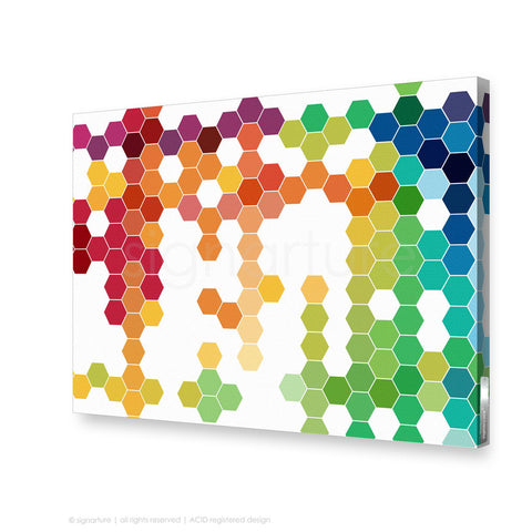 geometric canvas art chelsea multi rectangular