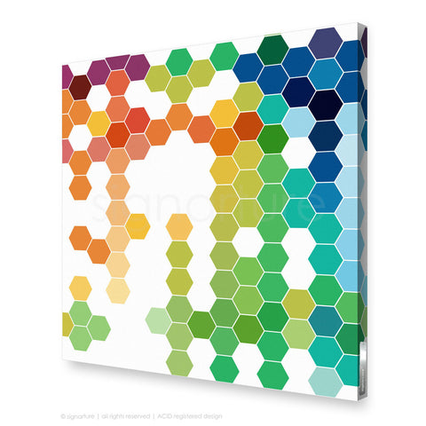 geometric canvas art chelsea multi square