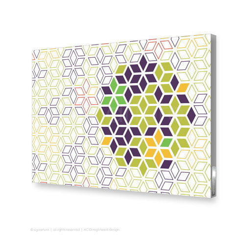 geometric canvas art tribeca purple rectangular