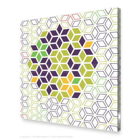 geometric canvas art tribeca purple square