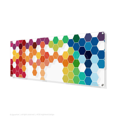 geometric perspex art chelsea multi panoramic