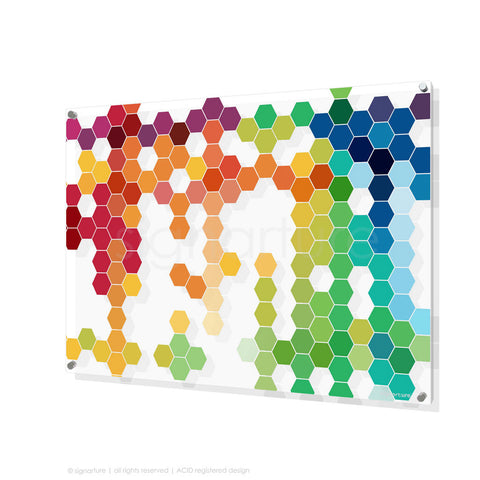 geometric perspex art chelsea multi rectangular