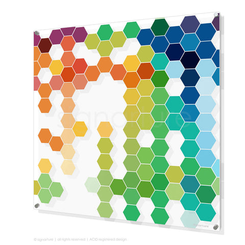 geometric perspex art chelsea multi square