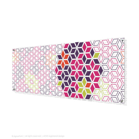 geometric perspex art tribeca magenta panoramic