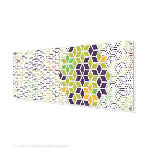 geometric perspex art tribeca purple panoramic