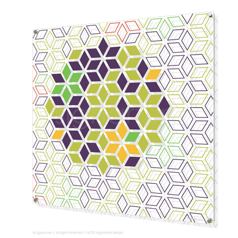 geometric perspex art tribeca purple square