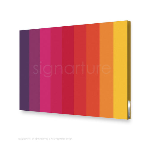 modern canvas art midtown magenta rectangular