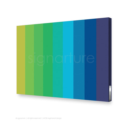 modern canvas art midtown blue rectangular