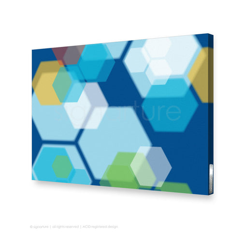 modern canvas art soho blue rectangular