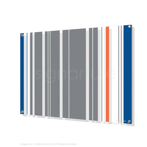 modern perspex art london grey rectangular