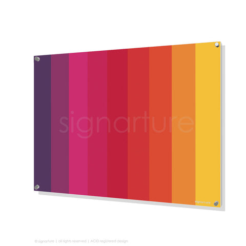 modern perspex art midtown magenta rectangular