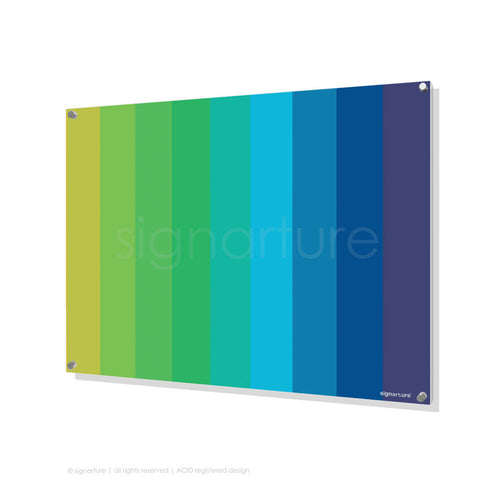 modern perspex art midtown blue rectangular