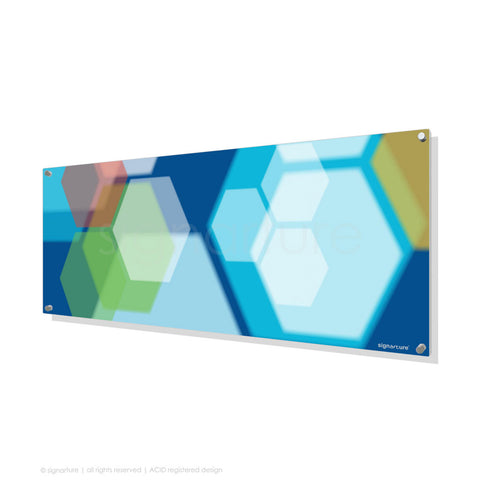 modern perspex art soho blue panoramic