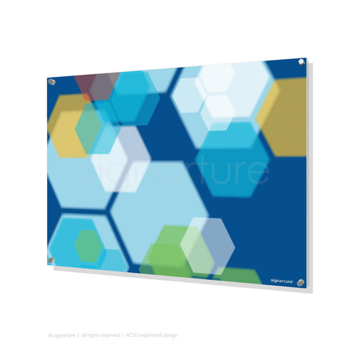 modern perspex art soho blue rectangular