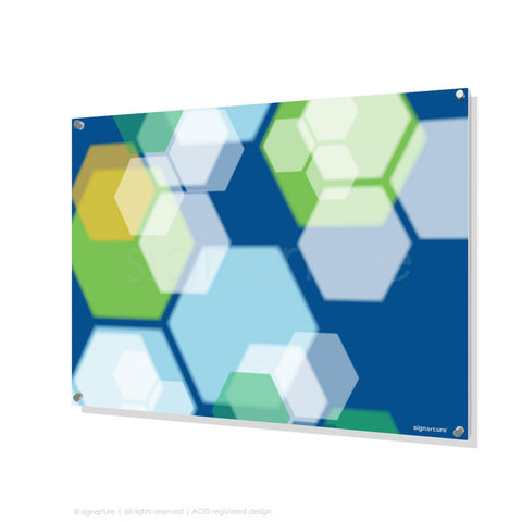 modern perspex art soho green rectangular
