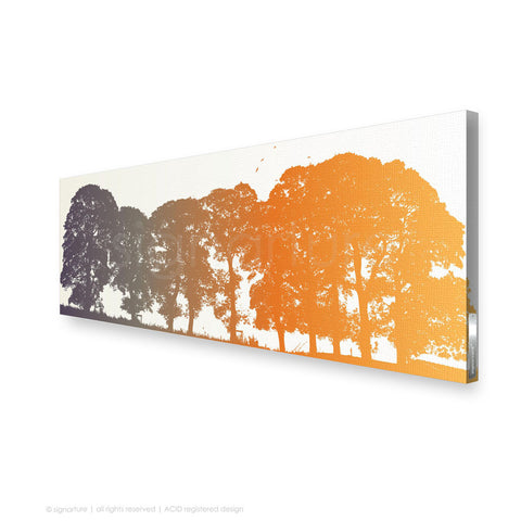 tree canvas art aberfeldy orange panoramic