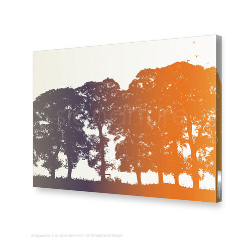 tree canvas art aberfeldy orange rectangular