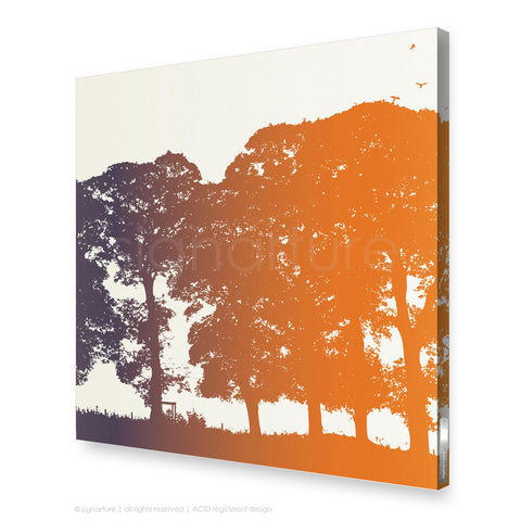 tree canvas art aberfeldy orange square