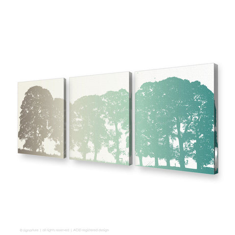 tree canvas art aberfeldy blue triptych