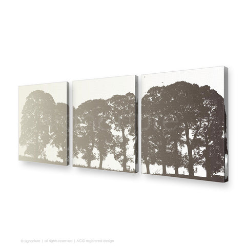 tree canvas art aberfeldy brown triptych