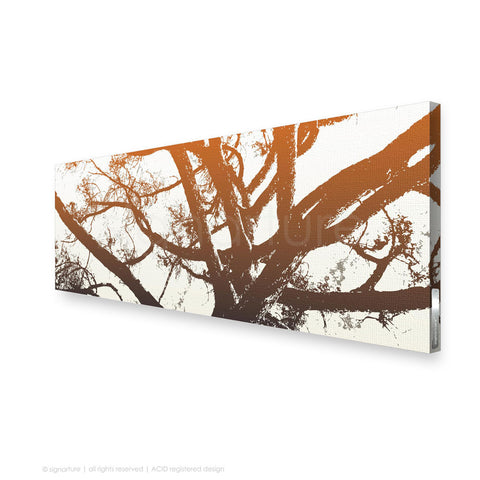 tree canvas art balmoral orange panoramic