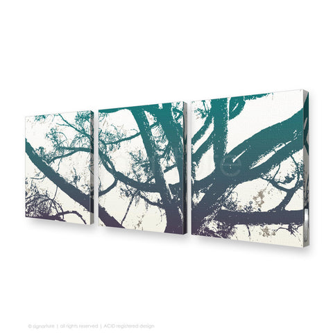 tree canvas art balmoral blue triptych