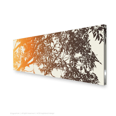 tree canvas art blackheath orange panoramic