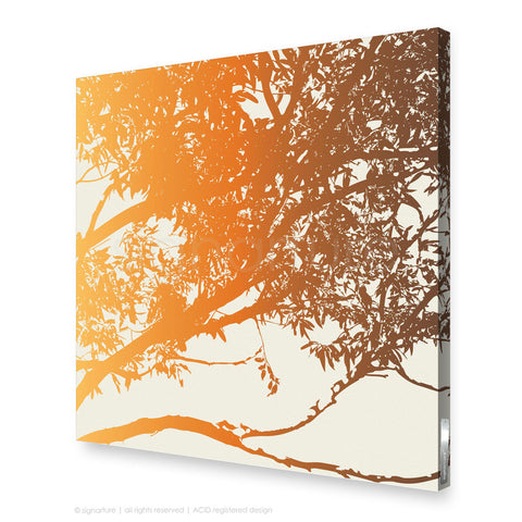 tree canvas art blackheath orange square