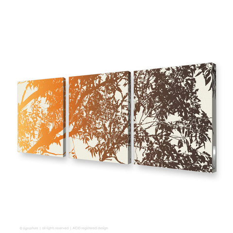 tree canvas art blackheath orange triptych