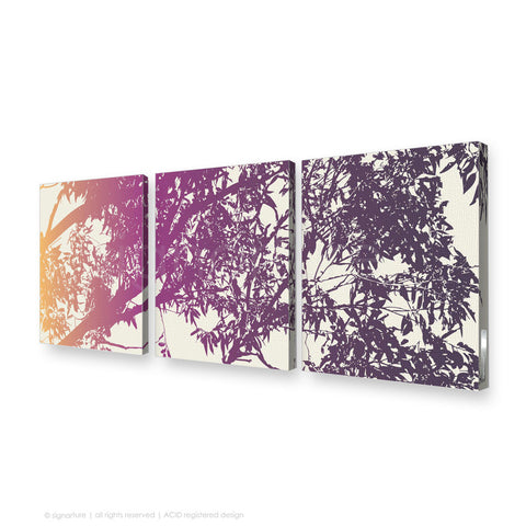 tree canvas art blackheath magenta triptych