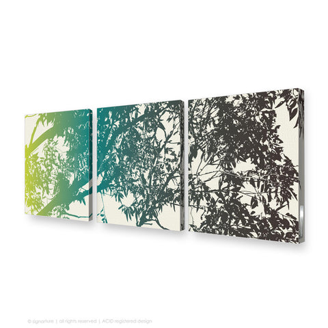 tree canvas art blackheath blue triptych