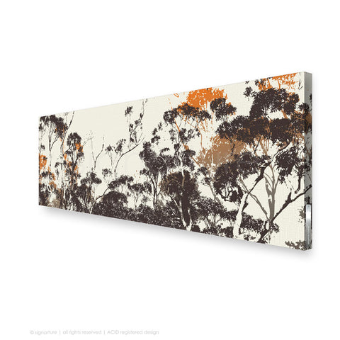 tree canvas art braidwood orange panoramic