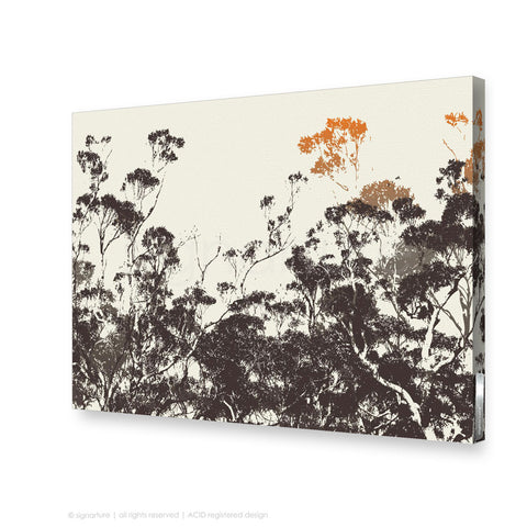 tree canvas art braidwood orange rectangular