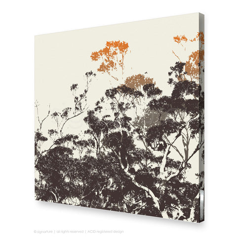 tree canvas art braidwood orange square