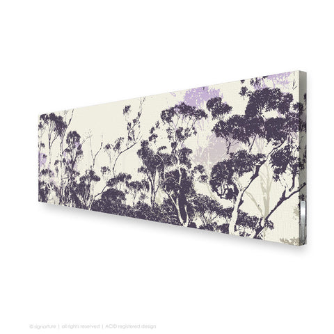 tree canvas art braidwood purple panoramic